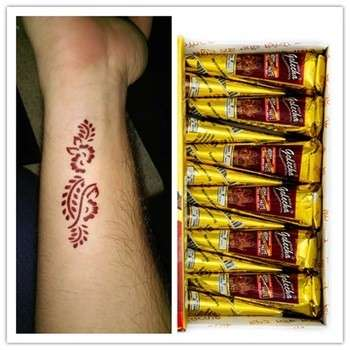 India Golecha Henna Cone Mehandi Cone For Body Painting Temporary