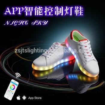 Newest App Bluetooth Led Light Up Shoes Via Handphone Control Adult Flashing  Dance Shoes Running Magic ...