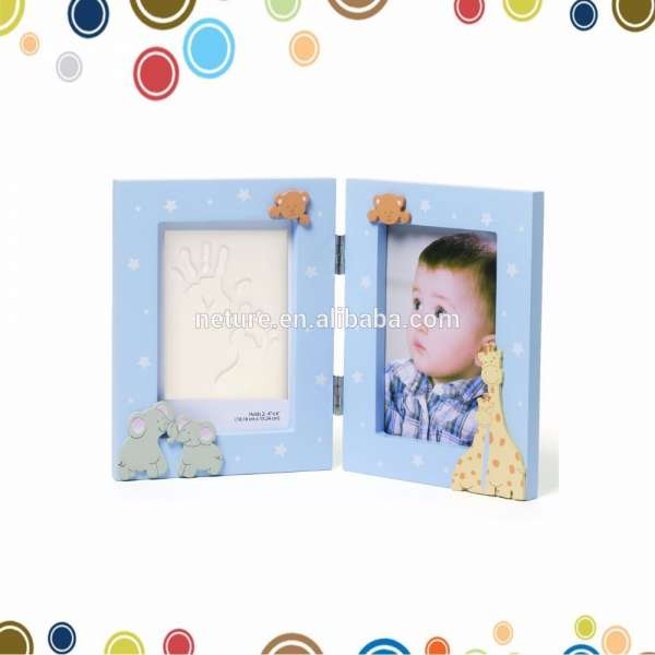Wholesale Baby Double Opening Digital Photo Frame, Blue Frame Clay ...
