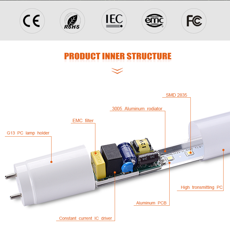 4ft 12w T8 Ce Rohs Iec Led Tube Light Circuit Diagram 18