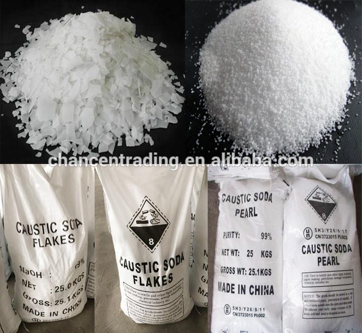 Sodium Hydroxide Beads NaOH Caustic Soda Pearls 99% Hs Code