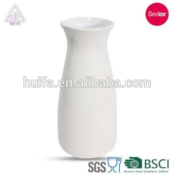 Round White Ceramic Porcelain Flower Vase Wholesale For Home Decor