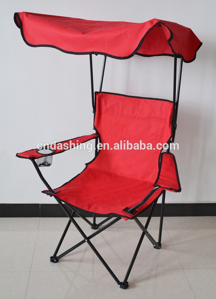 & Canopy Folding Camping Chair Portable Beach Chair With Sunshade