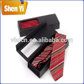 Wholesale Custom Tie Box Size Bow Tie Storage Paper Box With Clear Window