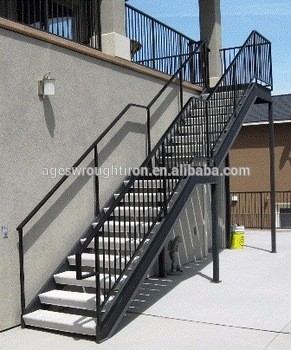Beau Outdoor Balcony Wrought Iron Stair Railing Parts Pipe Cast Veranda  Balustrade Staircase