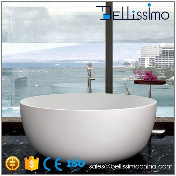 Wholesale Bath Supplies,White Artificial Stone Bathtub(Round) BS-8615