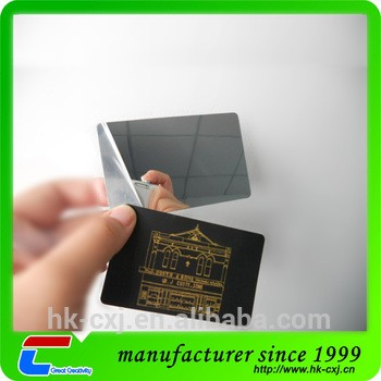 November 11 High Quality Credit Card Size Pvc Mirror Business Card