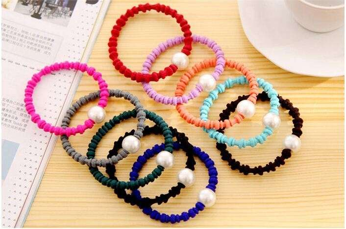 Thick Bobbles Hair Bands Elastic Ponytail Rubber Thick Hairbands School  Girls Hair Band 7015b18a487