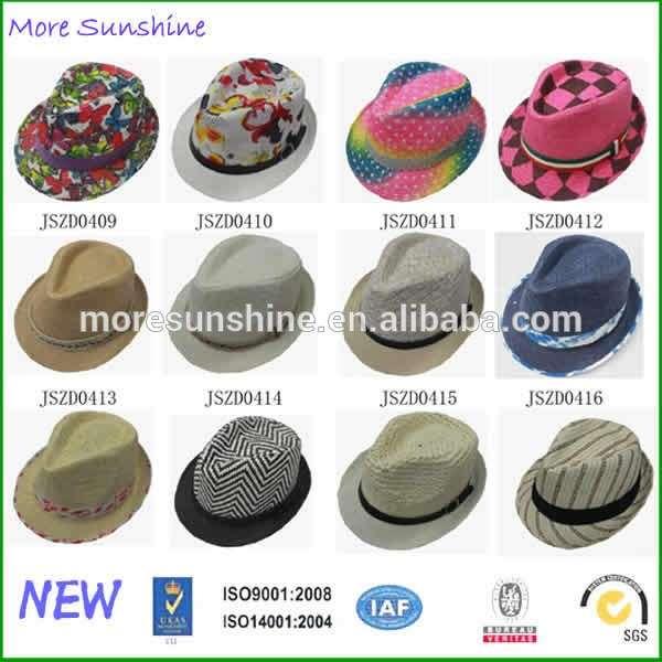 Wholesale Mens Straw Hats Factory Custom Paper Fedora Hat d8a6658515a