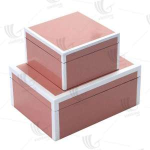 Vietnam lacquer wooden box/ Wholesale lacquered box with different colors and designs