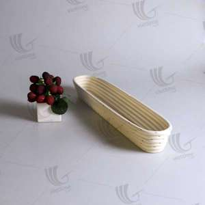 Amazing uncommon oblong rattan banneton proofing basket for wholesale. Made in Vietnam